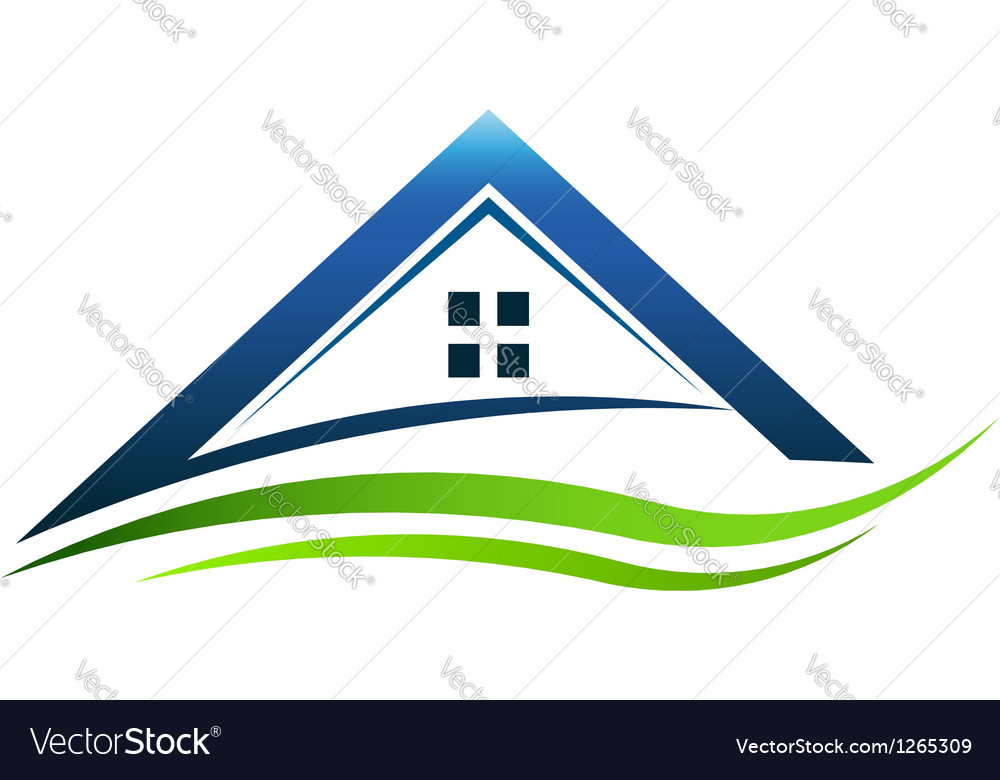 House green sign vector image