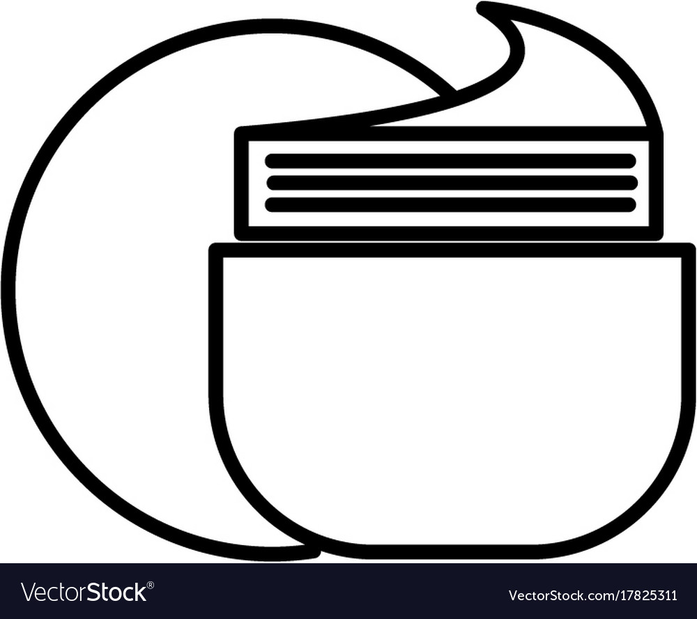 Cream tube line icon sign on vector image