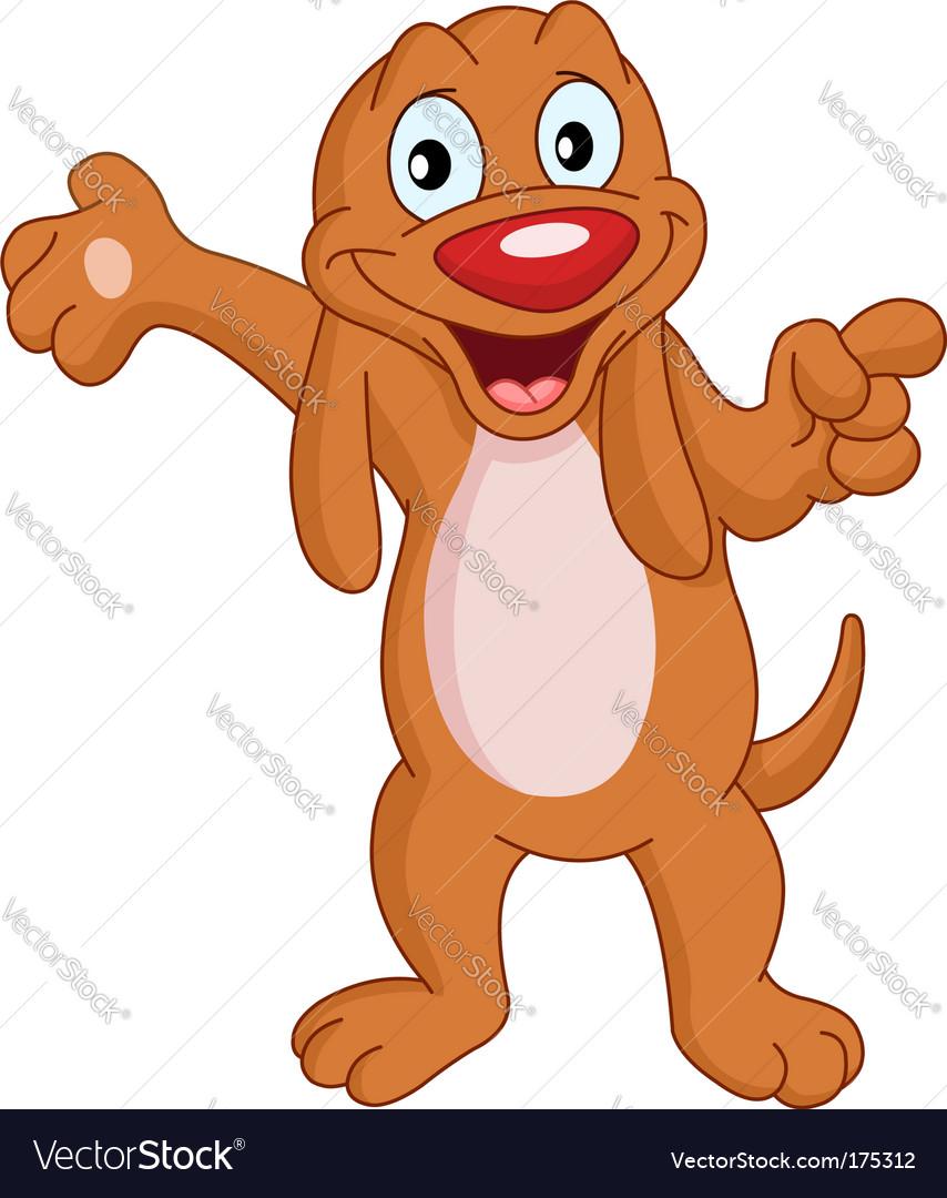 Presenter dog Vector Image