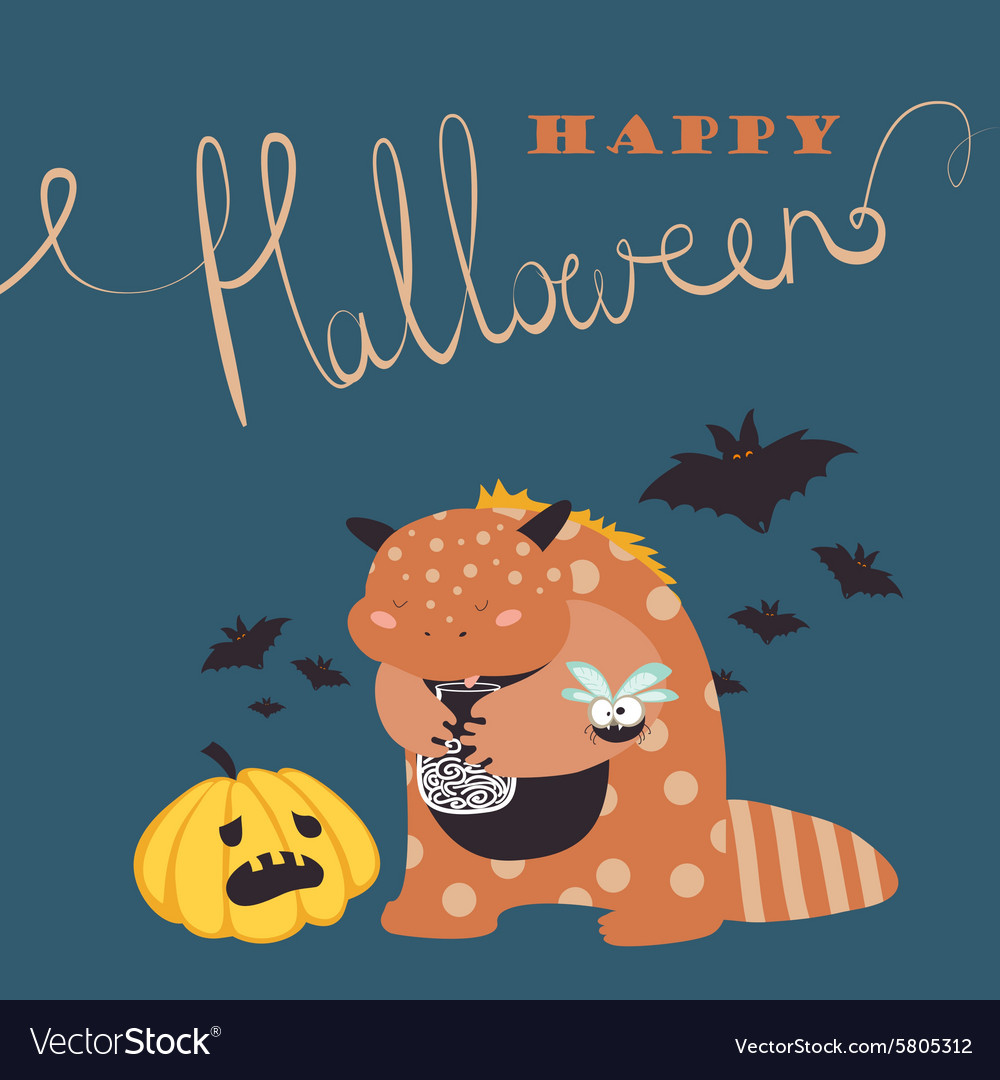 Cute colorful monster vector image