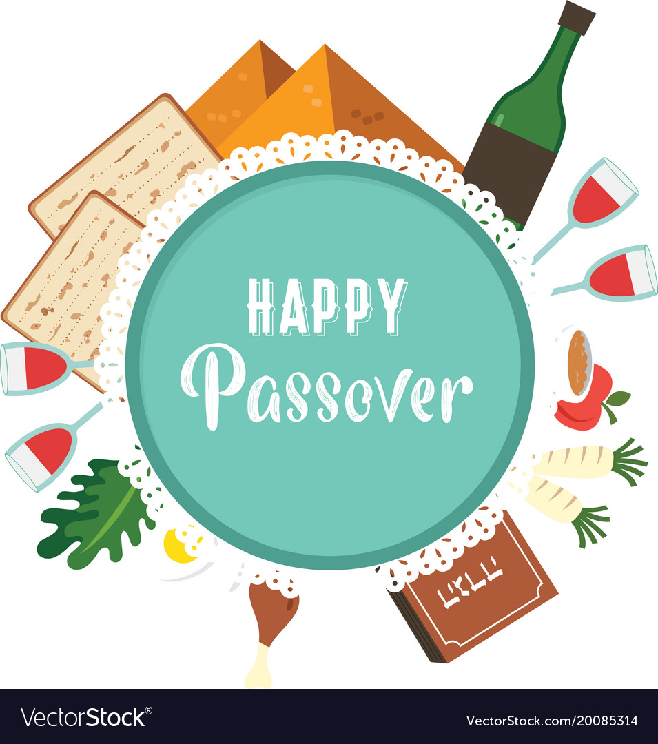 Passover seder plate with flat traditional icons vector image passover seder plate with flat traditional icons vector image buycottarizona