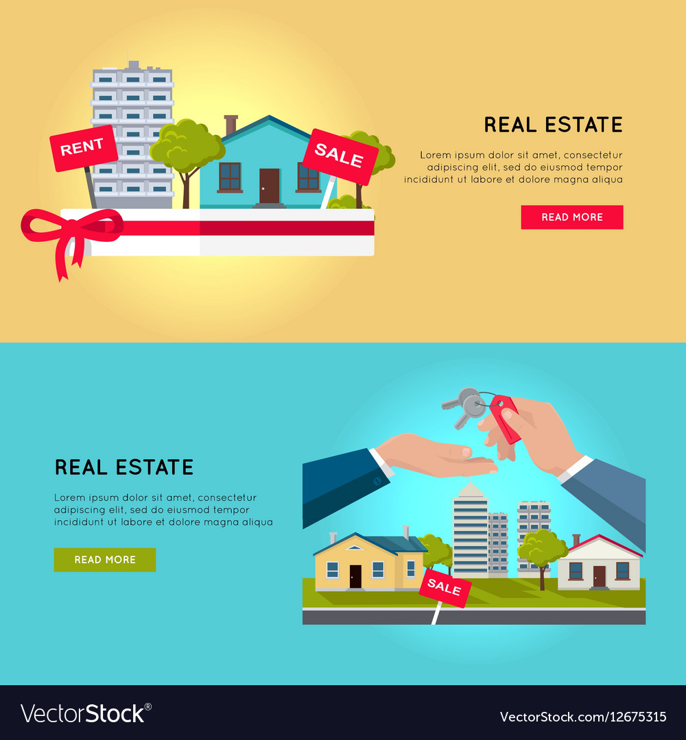 Set of Real Estate Web Banners vector image