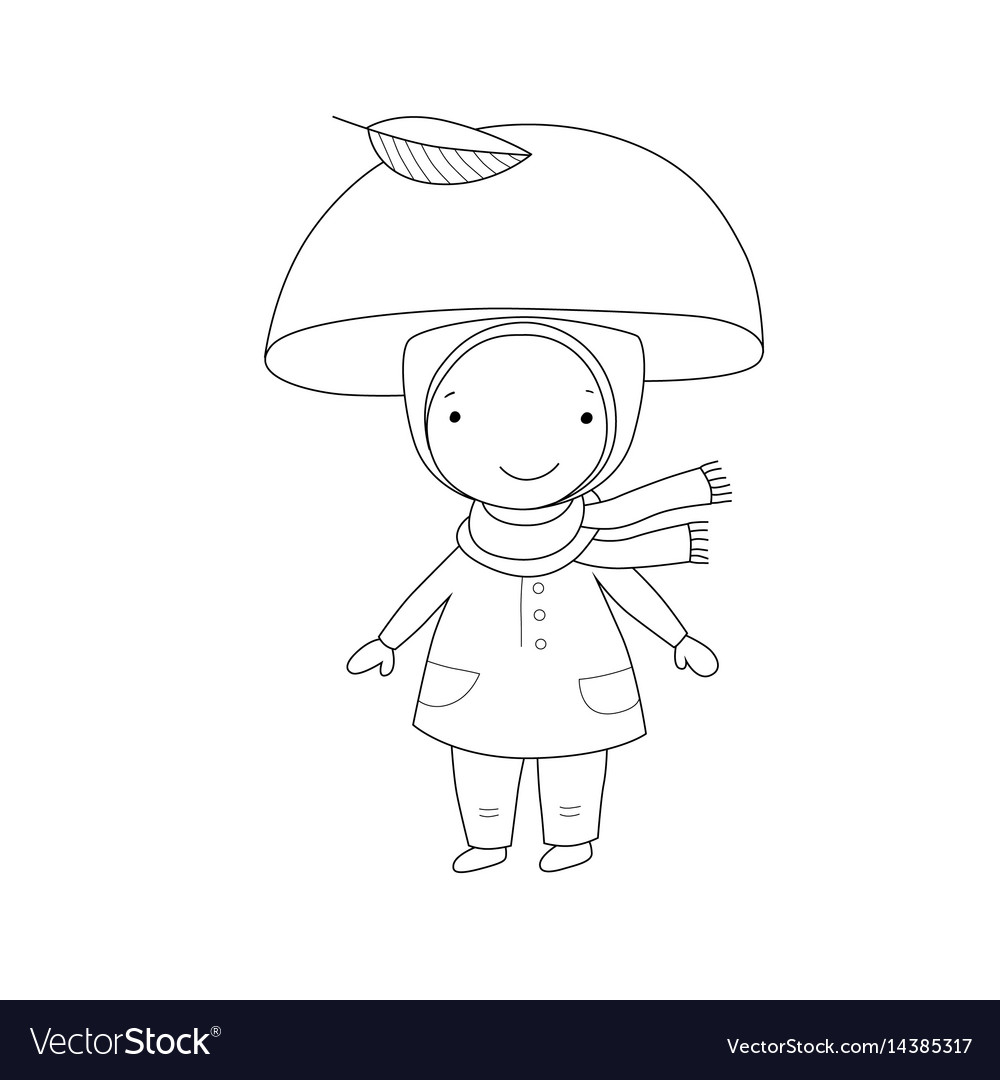 Cute little gnome mushroom for children design vector image