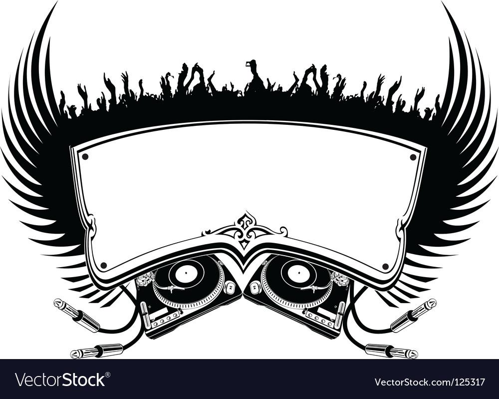 DJ banner vector image