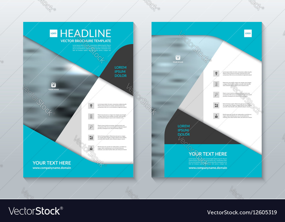 Blue Annual Report Brochure Layout Template A Vector Image