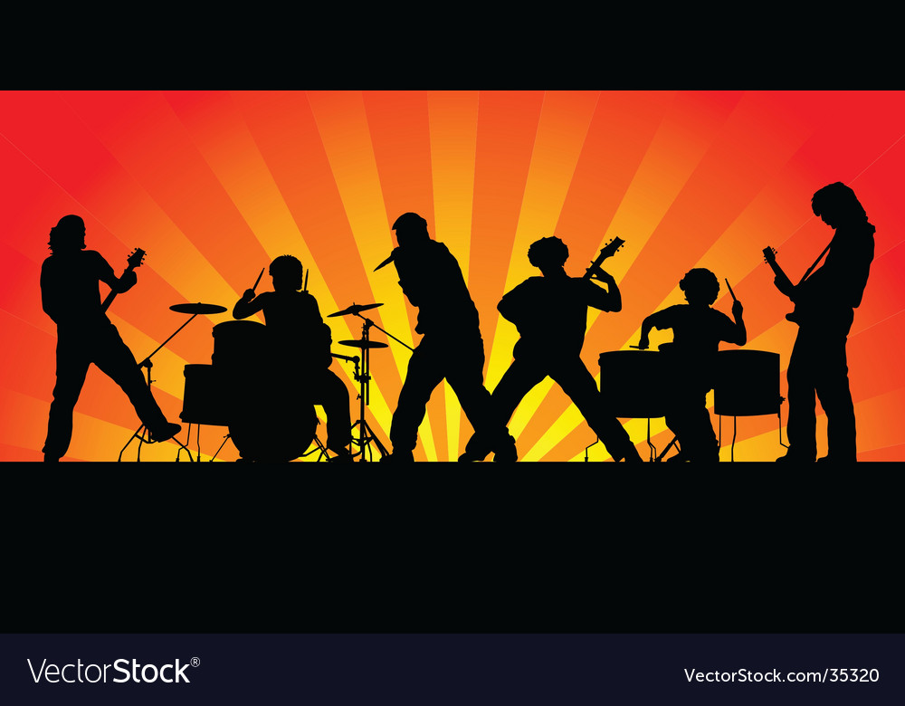 rock band royalty free vector image vectorstock