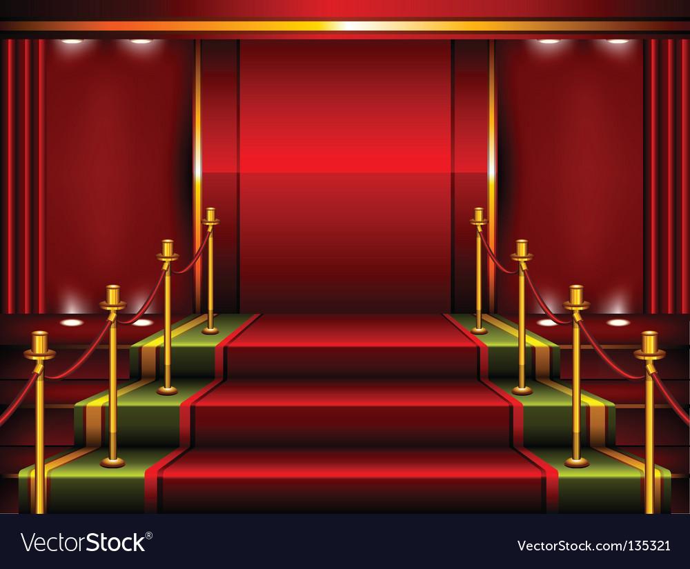 Red pedestal vector image