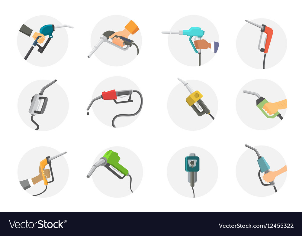 Filling gas station pistol vector image