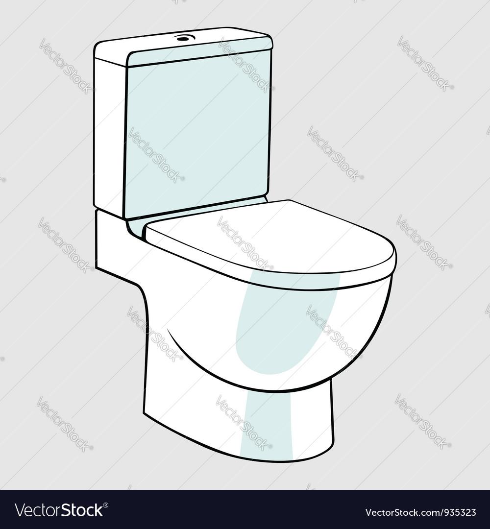 Toilet vector image. Toilet Royalty Free Vector Image   VectorStock