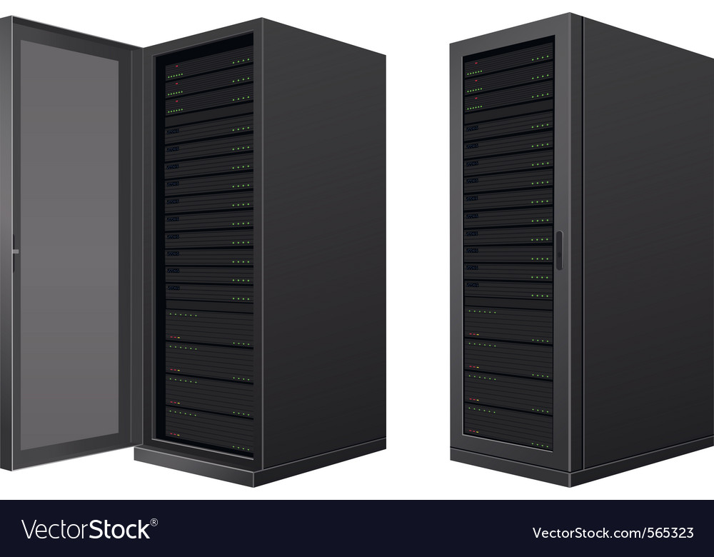 Server technology vector image