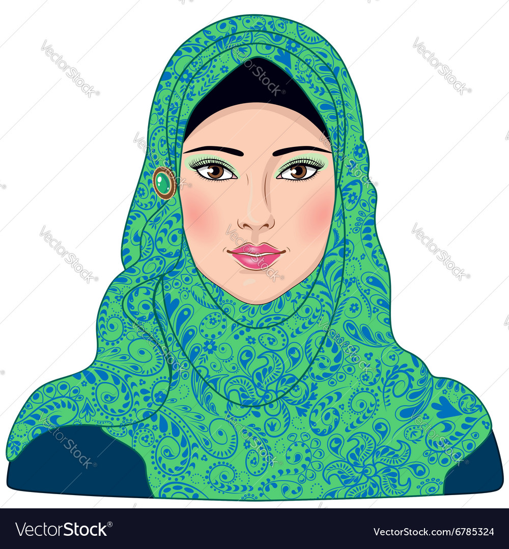 Arab girl vector image