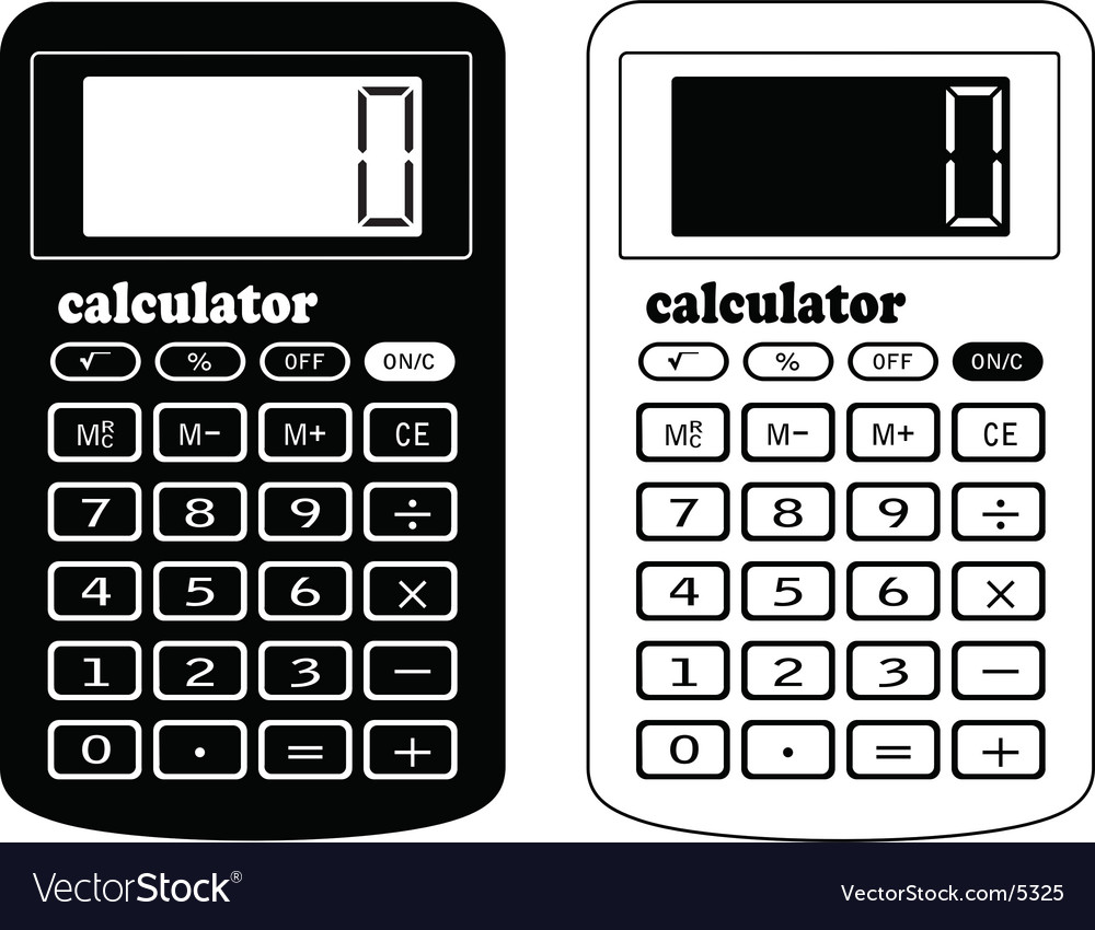 The financial calculator Royalty Free Vector Image