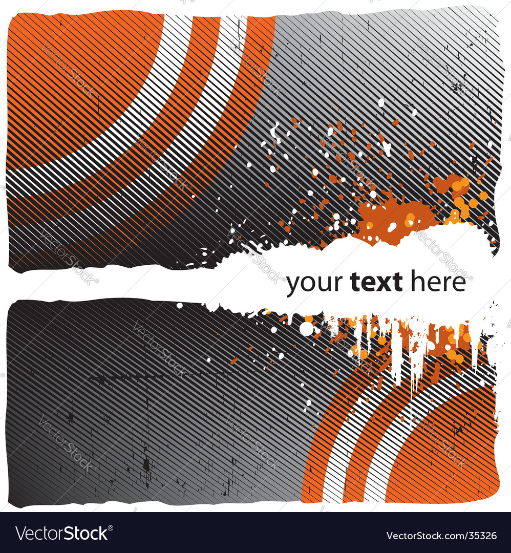 Grunge orange design vector image