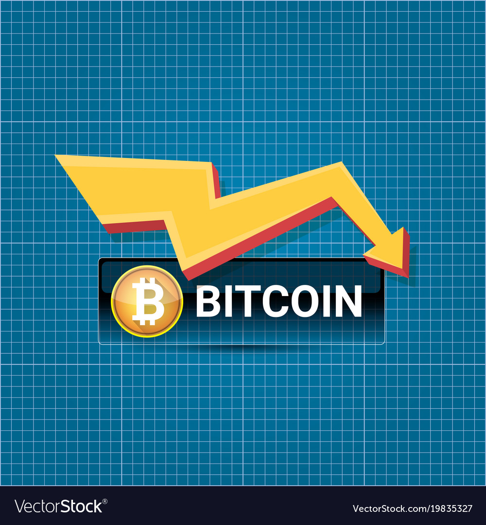 Bitcoin market crash graph on blueprint royalty free vector bitcoin market crash graph on blueprint vector image malvernweather Images