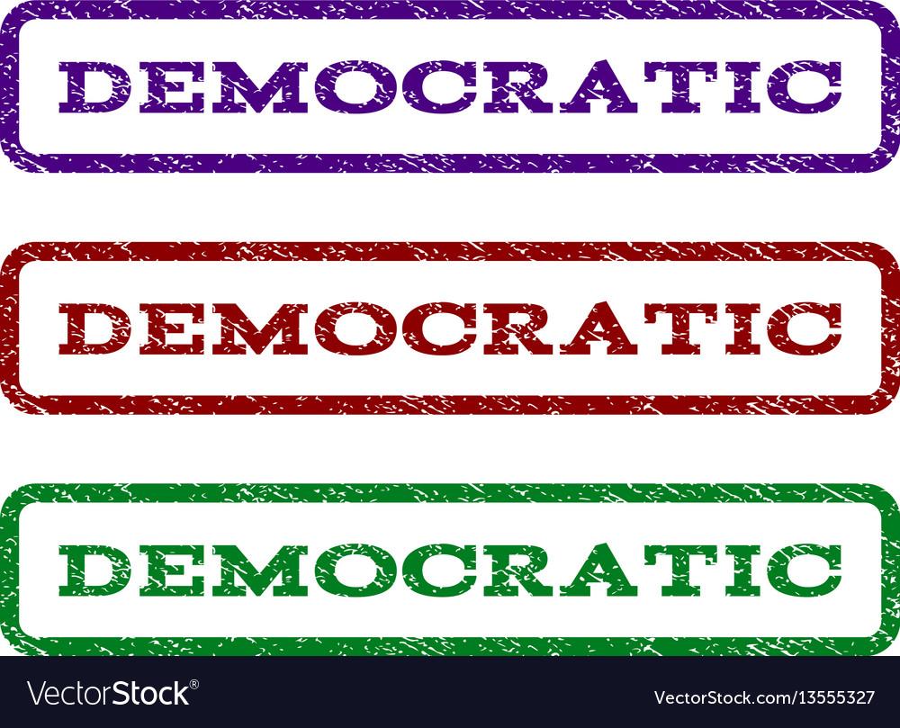 Democratic watermark stamp vector image