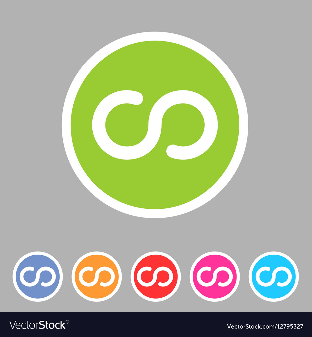 Infinity eternity icon flat web sign symbol logo vector image