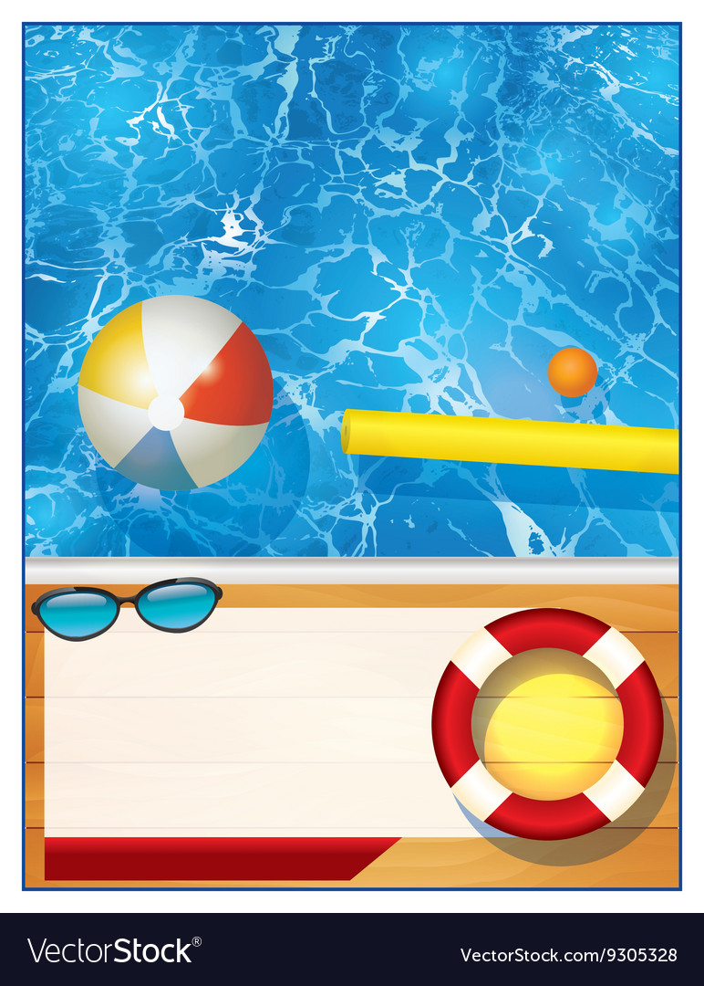 swimming pool background template royalty free vector image