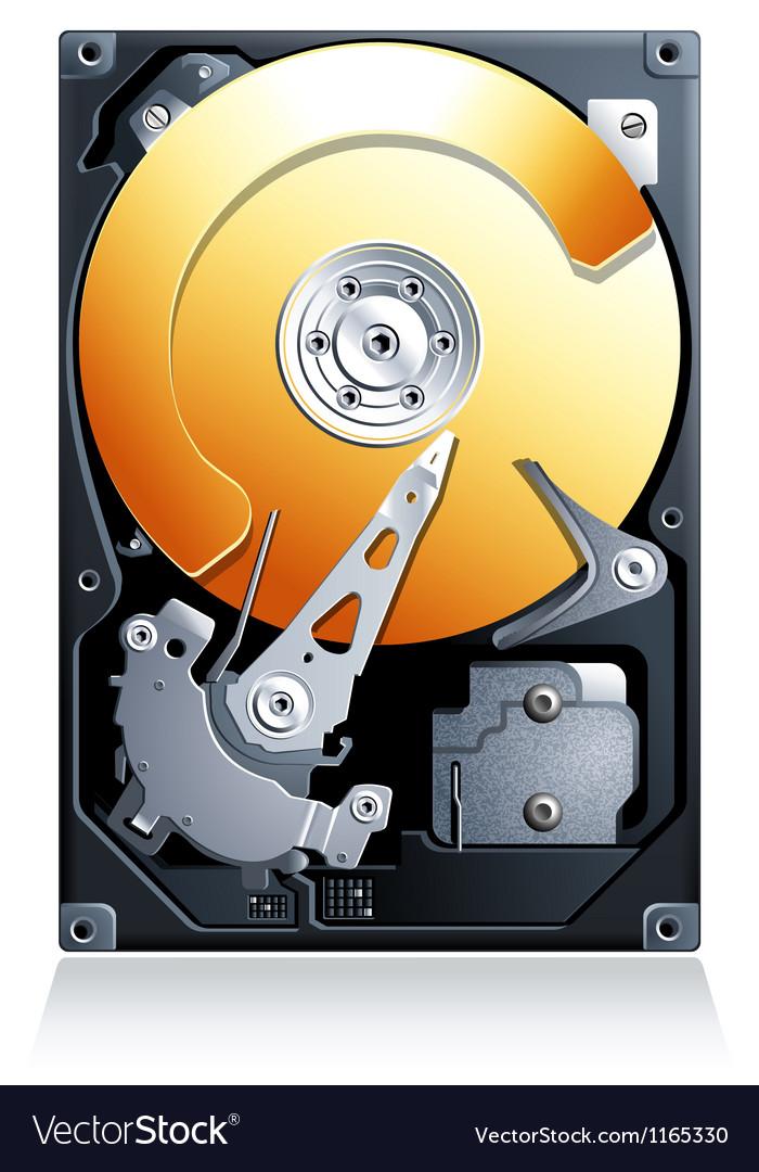 Hard disk drive HDD vector image