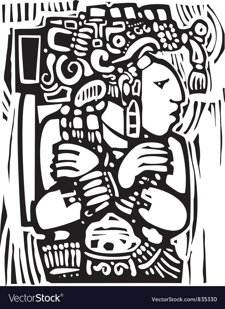 Maya Torso Vector Image