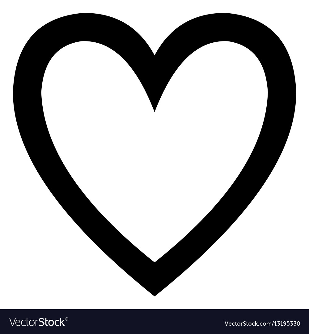 Minimalistic black heart icon template vector image
