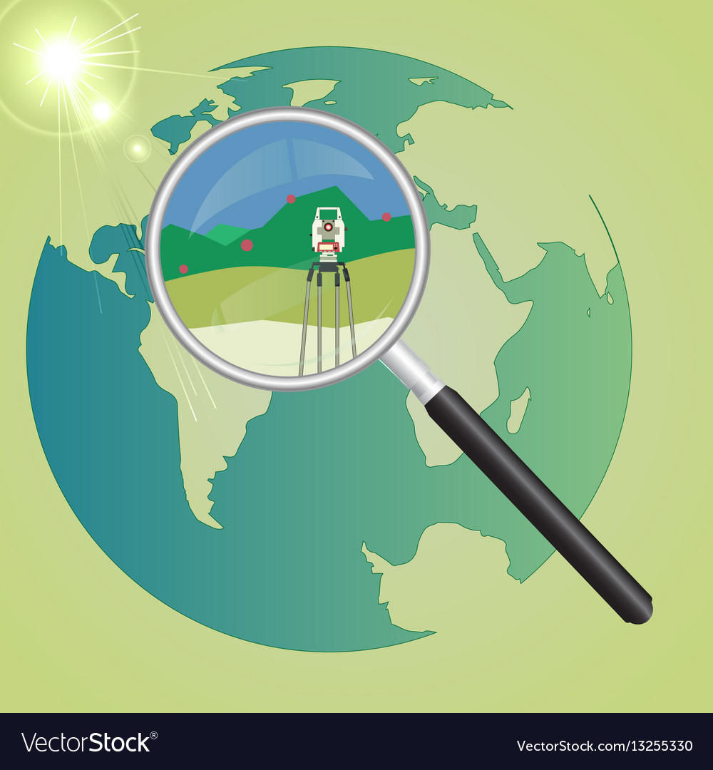 World geodetic system vector image