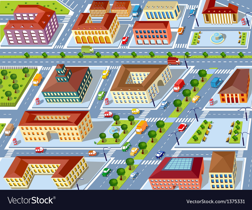 Retro city vector image