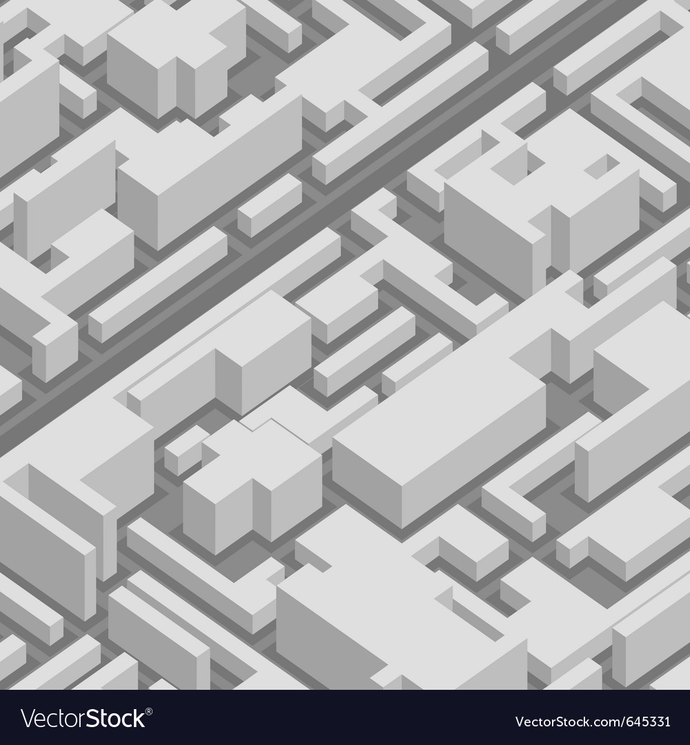 Abstract 3d city background vector image