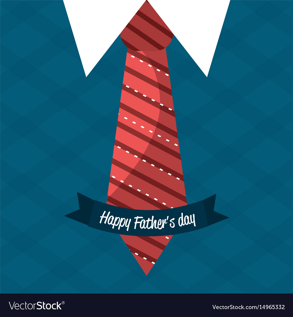 Nice card with tie shirt and vest design vector image