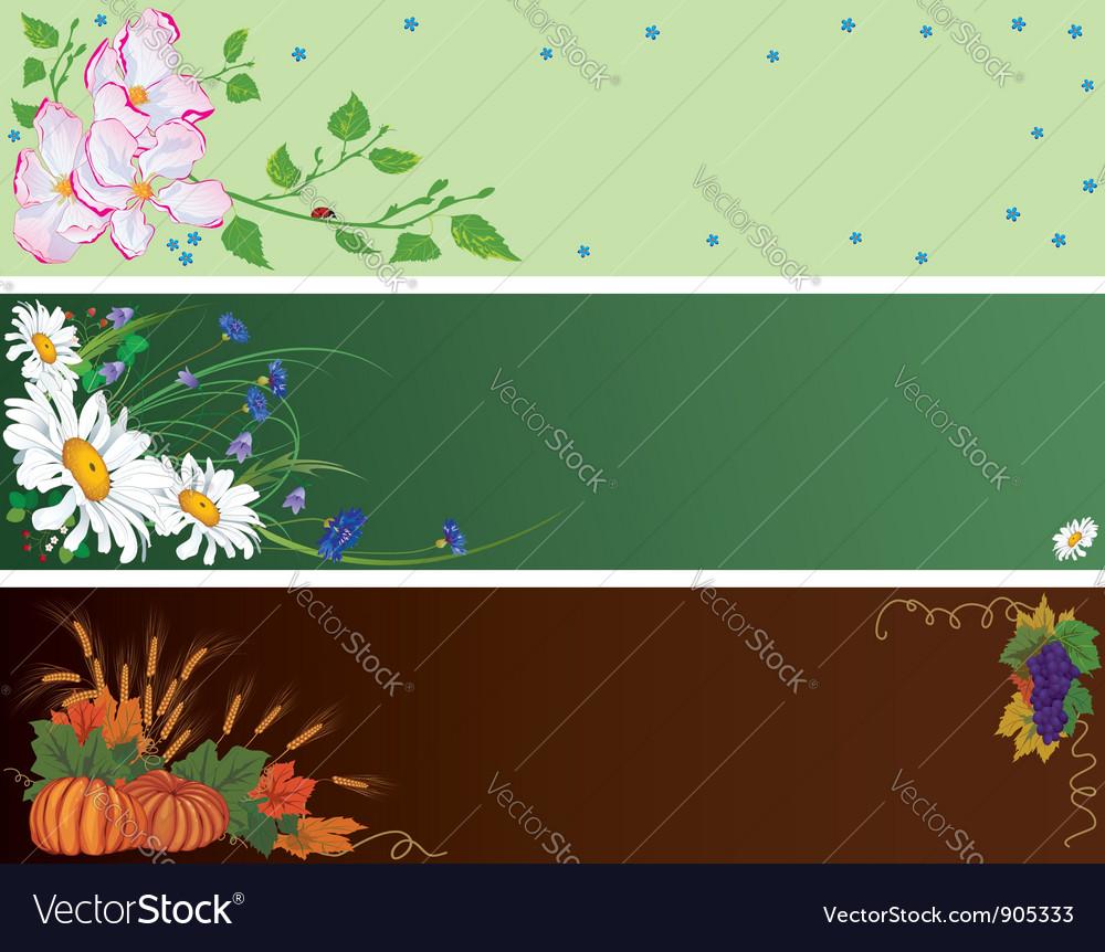 Set season vector image