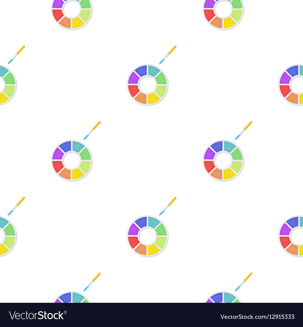 Color wheel icon in cartoon style isolated on vector image