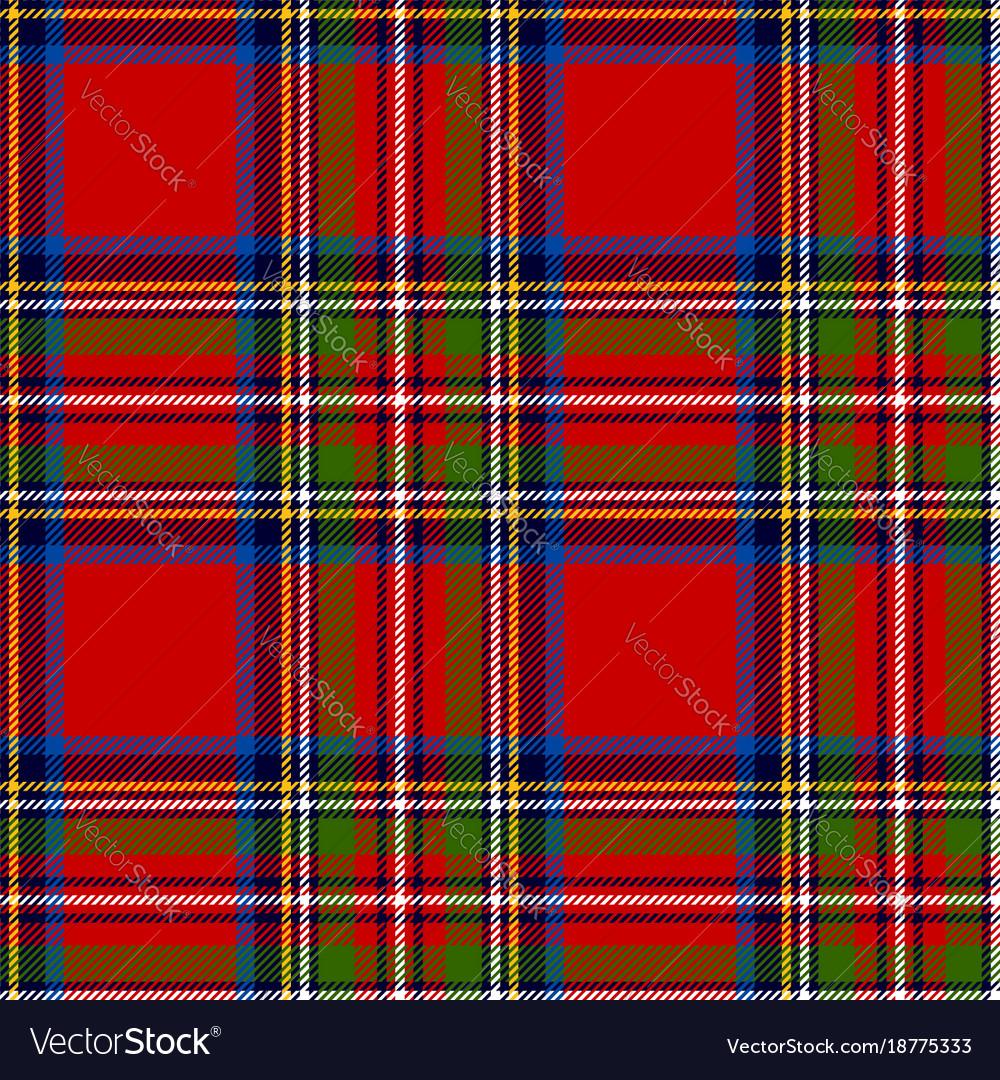 Scottish plaid royal stewart tartan vector image