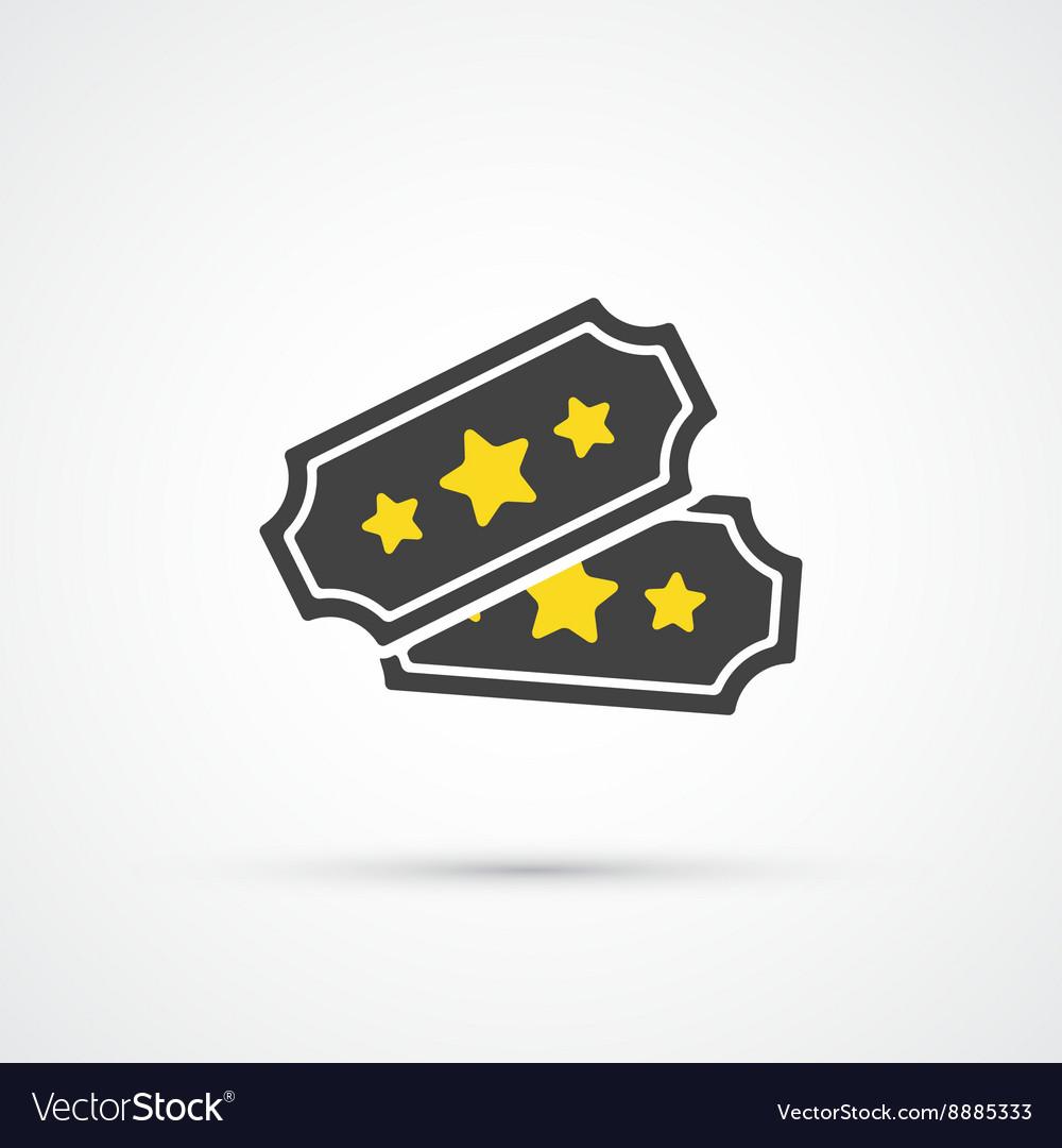 Ticket trendy icon vector image