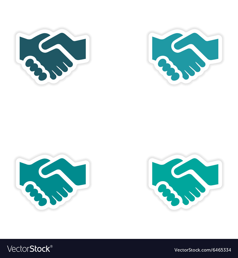 sea star sign set of icons with flat