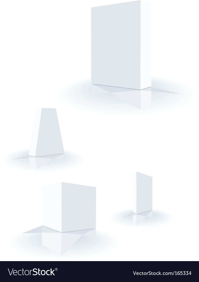 Box templates vector image