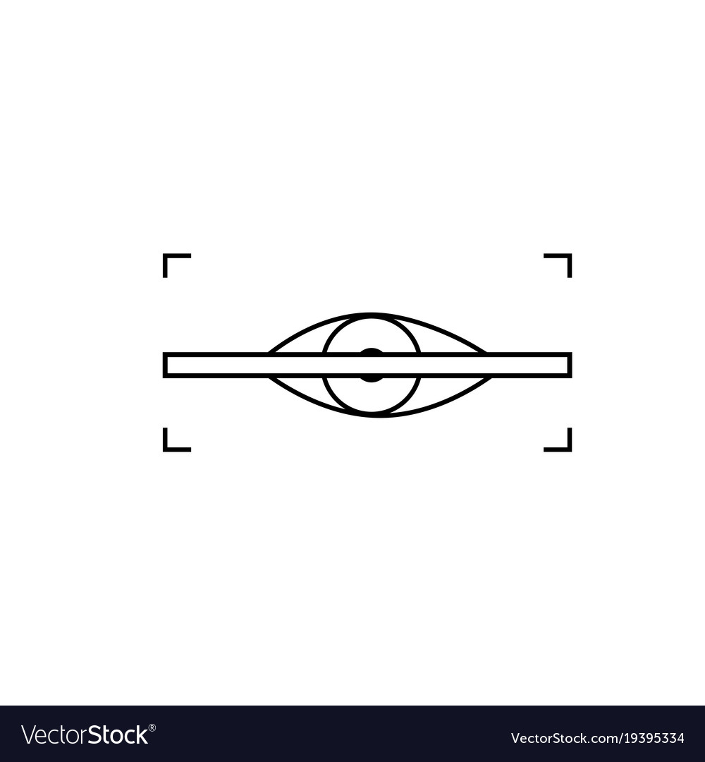 Eye scanner icon vector image