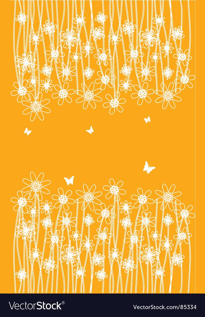 White flower vector image