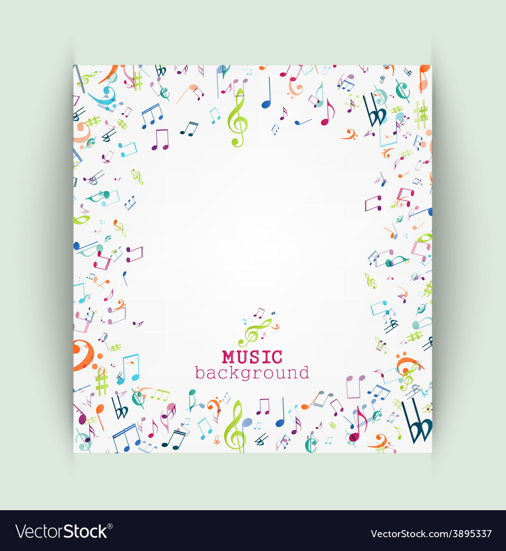 Colorful music notes background royalty free vector image colorful music notes background vector image voltagebd Image collections