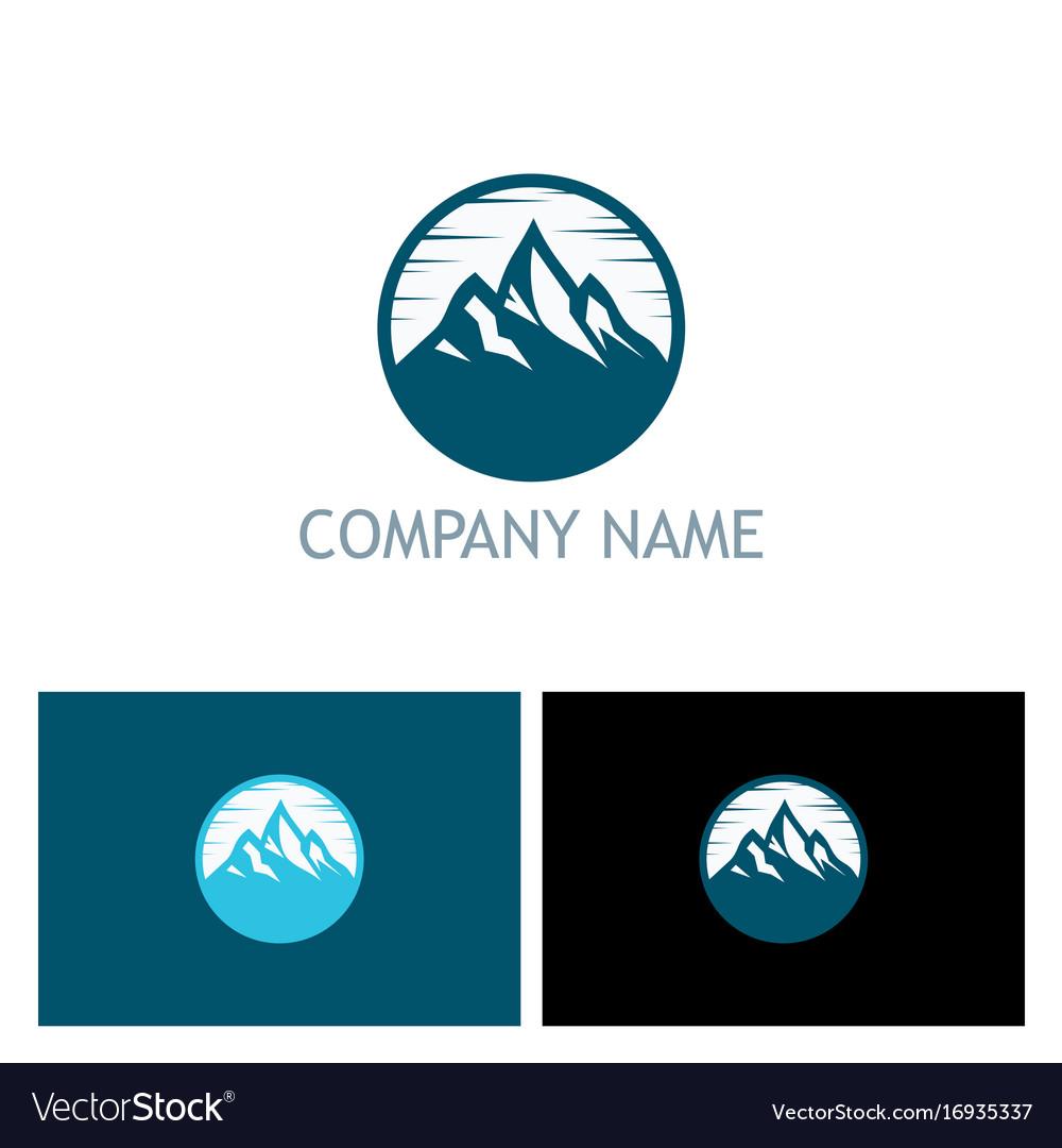 Mountain volcano icon logo vector image