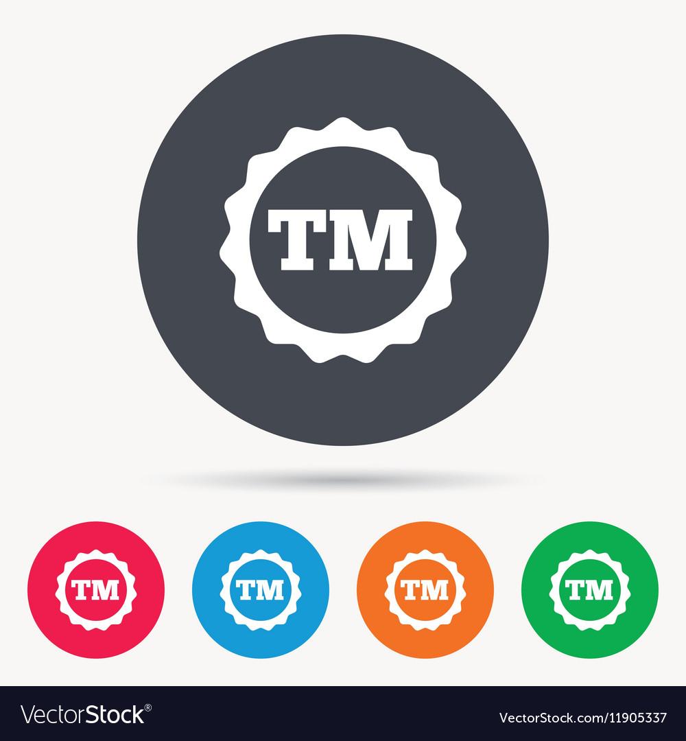 Registered tm trademark icon intellectual work vector image buycottarizona Gallery