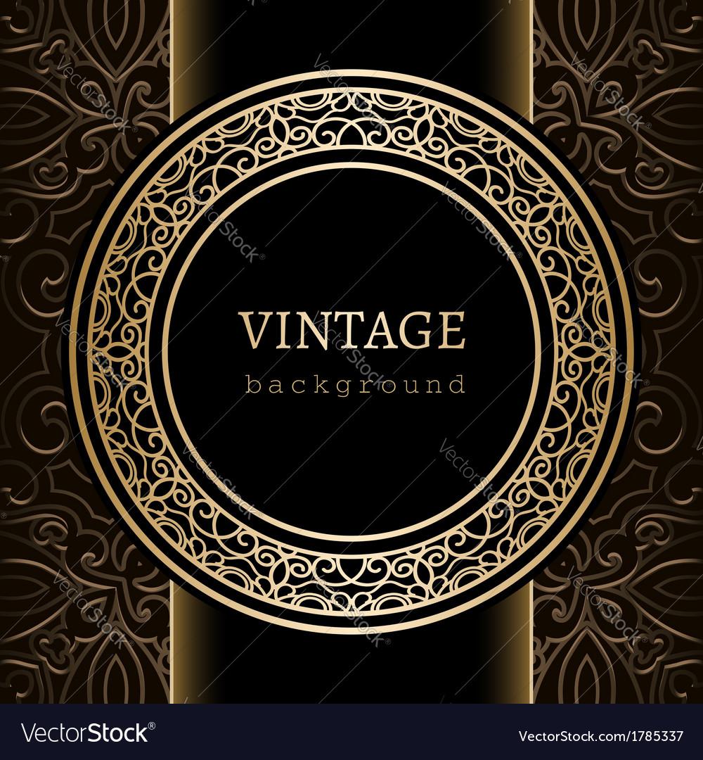Vintage gold background vector image