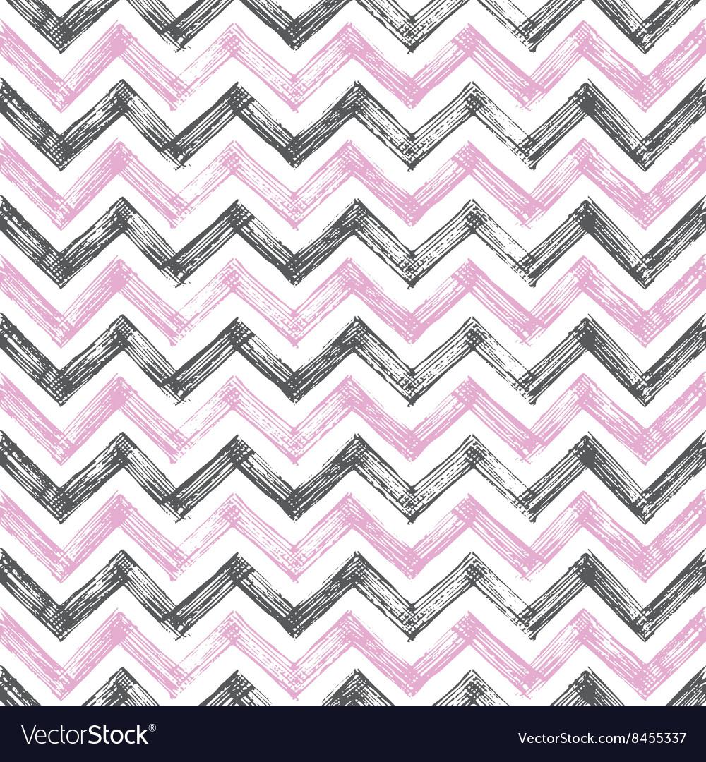 Vintage zigzag pattern vector image