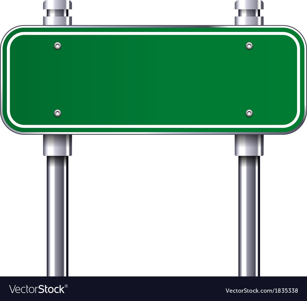 Blank traffic road sign vector image