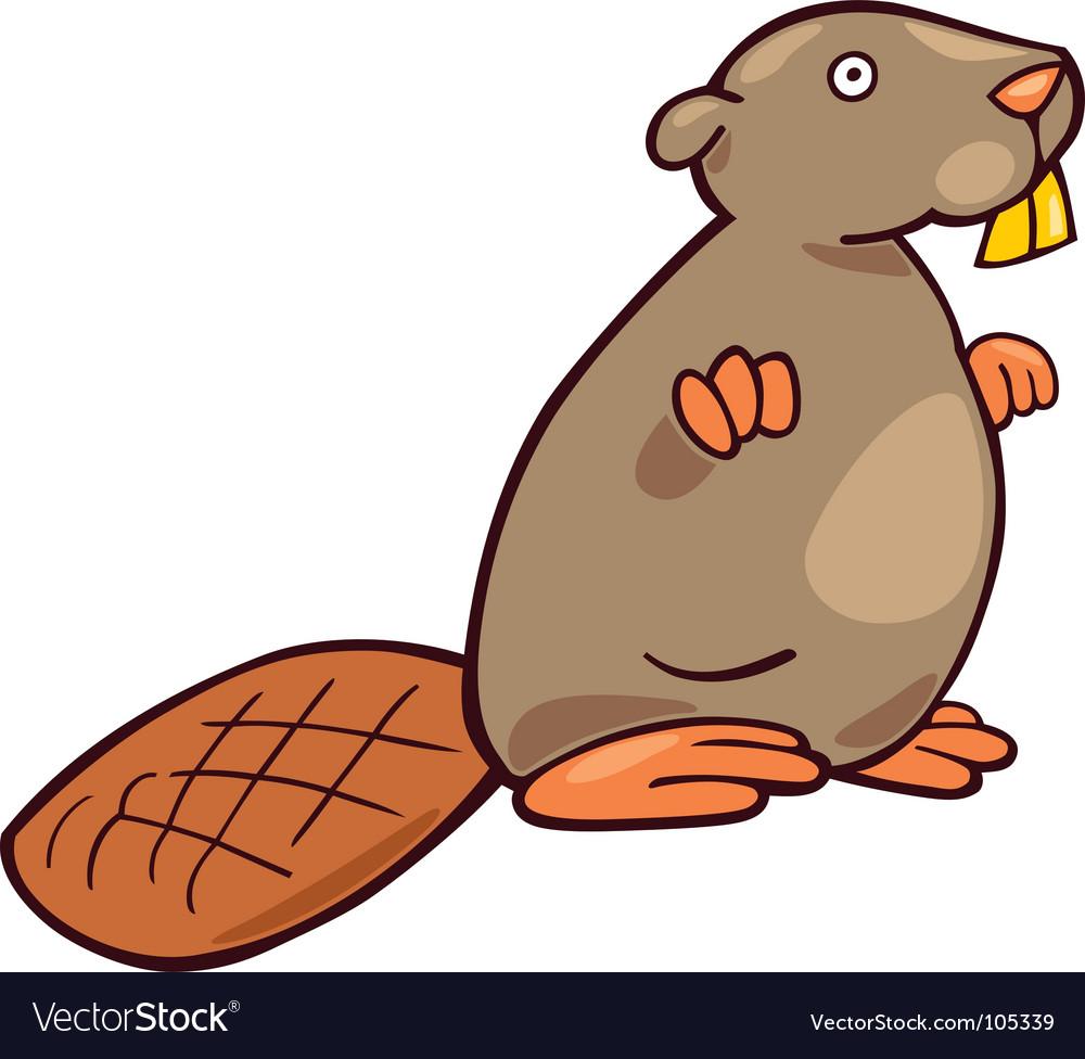 cartoon beaver royalty free vector image vectorstock