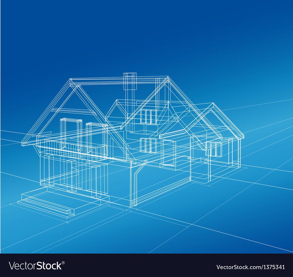 A country house vector image