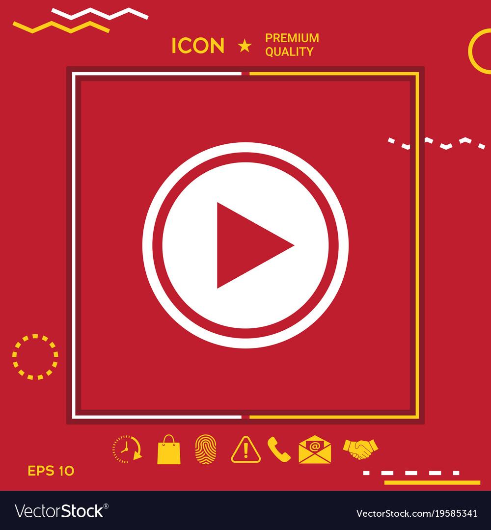 Play Symbol Icon Royalty Free Vector Image Vectorstock