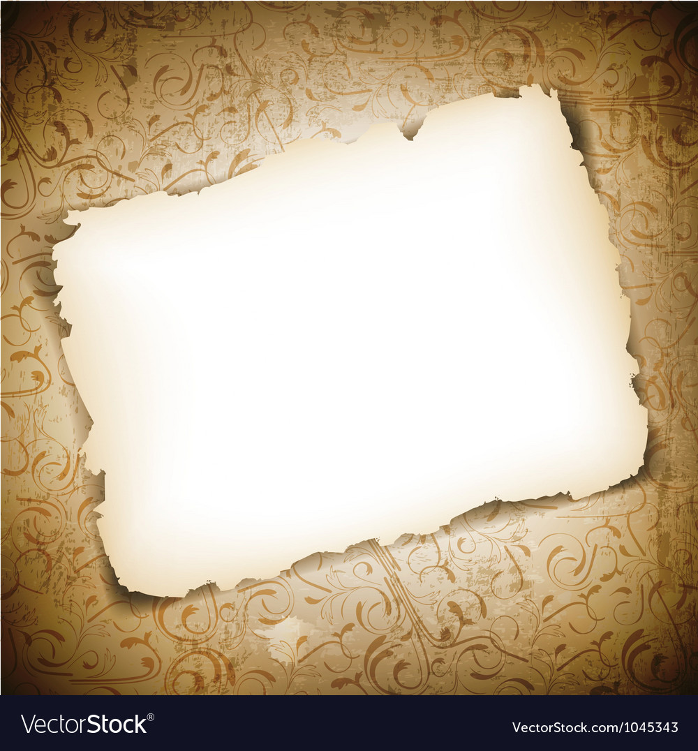 Burned Empty Paper Vector Image