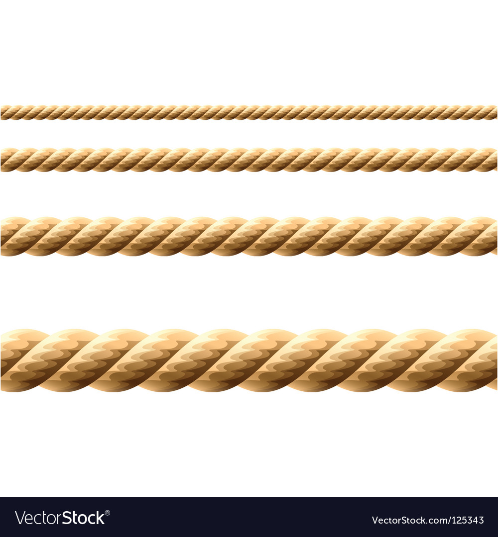 Seamless rope vector image