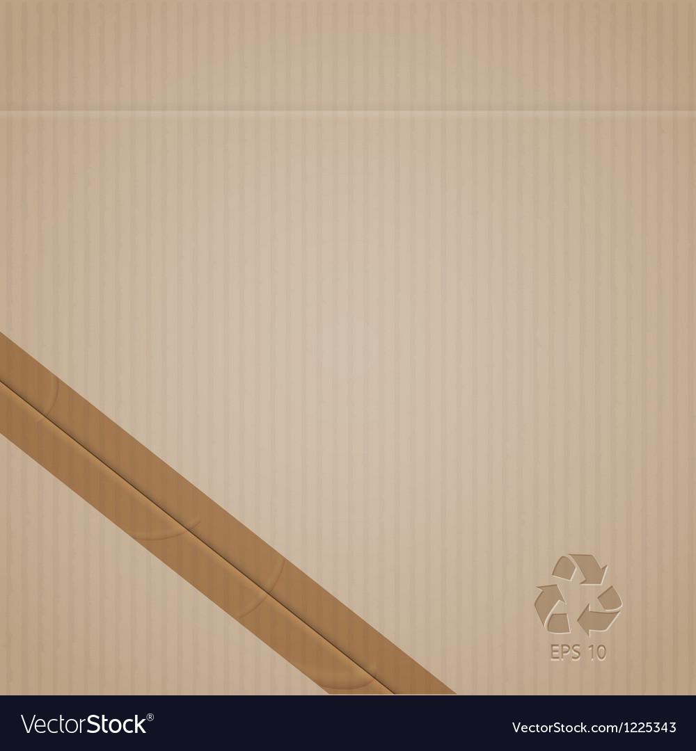 Cardboard vector image