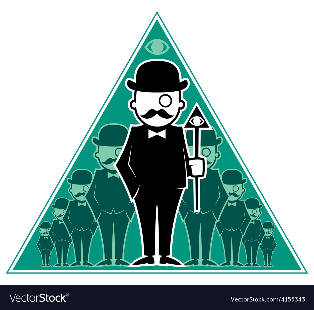 Hipster Secret Society vector image