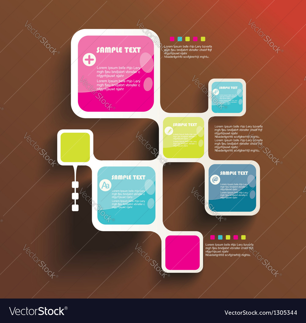Retro Style Website Template design frame vector image